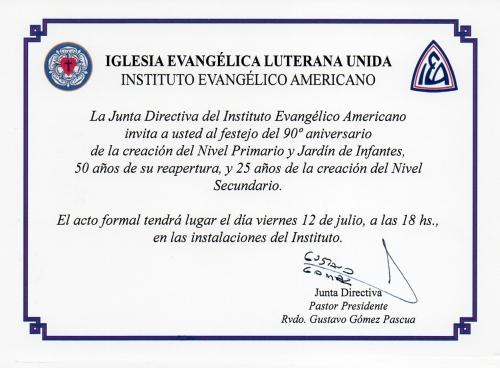 Invitación IEA José C. Paz