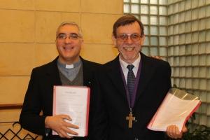 pastores Gustavo Gómez Pascua (IELU) y Carlos Duarte Voelker (IERP)